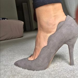 Grey or tan heels